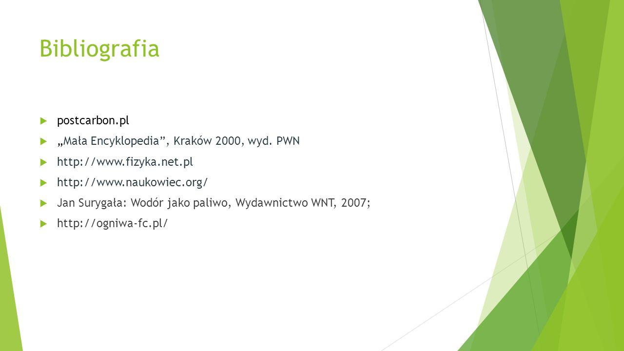 """Bibliografia postcarbon.pl """"Mała Encyklopedia , Kraków 2000, wyd. PWN"""