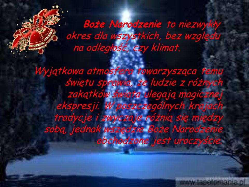 Boże Narodzenie to niezwykły okres dla wszystkich, bez względu na odległość, czy klimat.