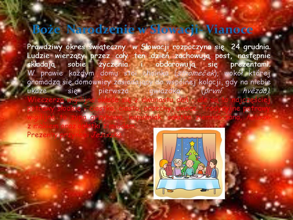 Boże Narodzenie w Słowacji- Vianoce