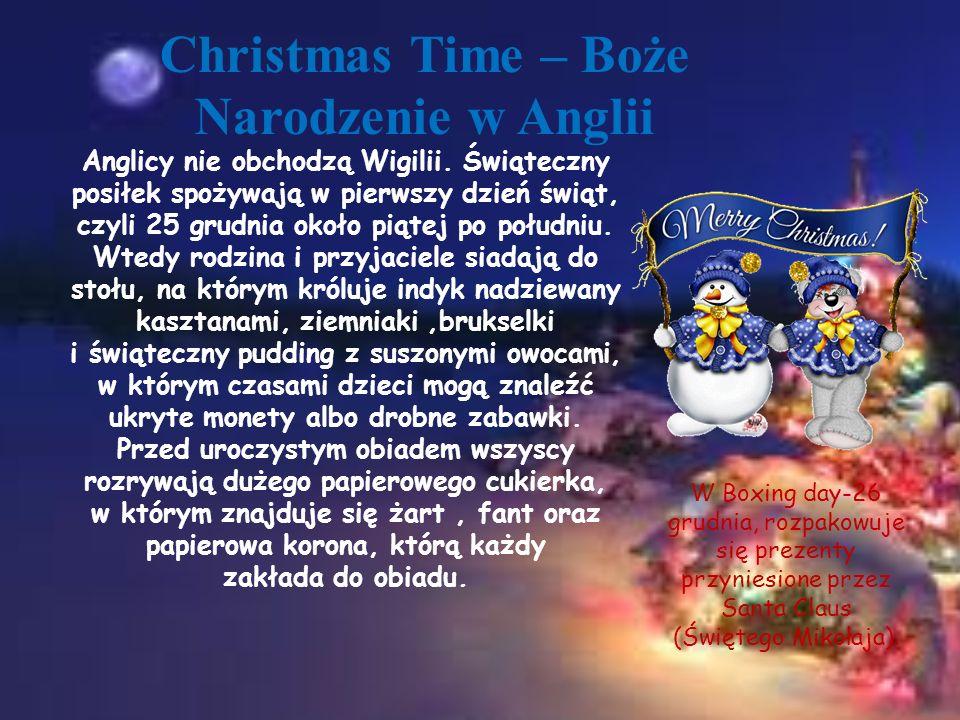 Christmas Time – Boże Narodzenie w Anglii