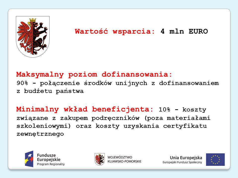 Wartość wsparcia: 4 mln EURO