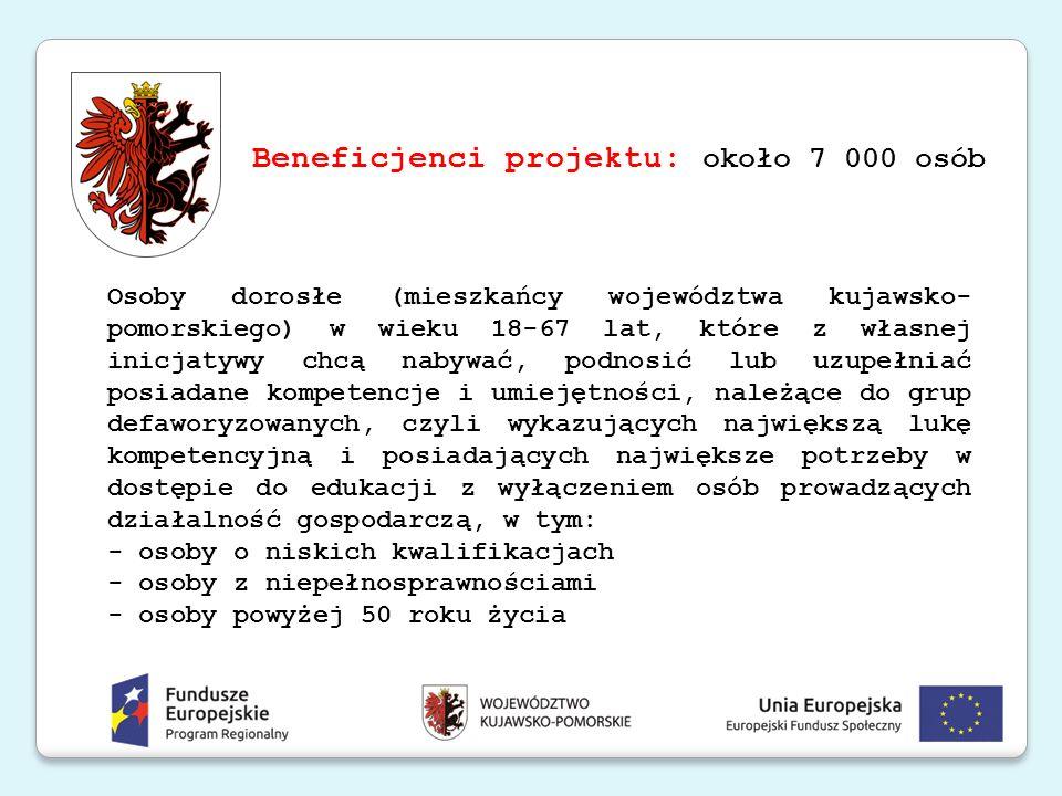 Beneficjenci projektu: około 7 000 osób