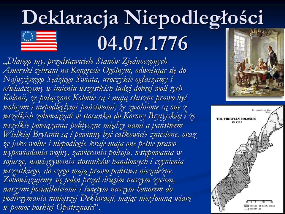 Deklaracja Niepodległości 04.07.1776