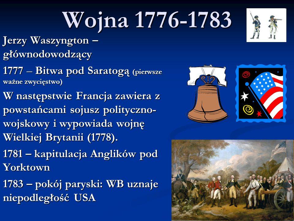 Wojna 1776-1783 Jerzy Waszyngton – głównodowodzący