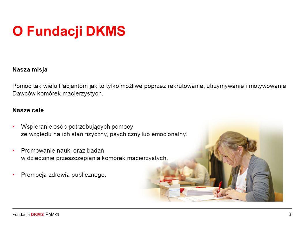 O Fundacji DKMS Nasza misja