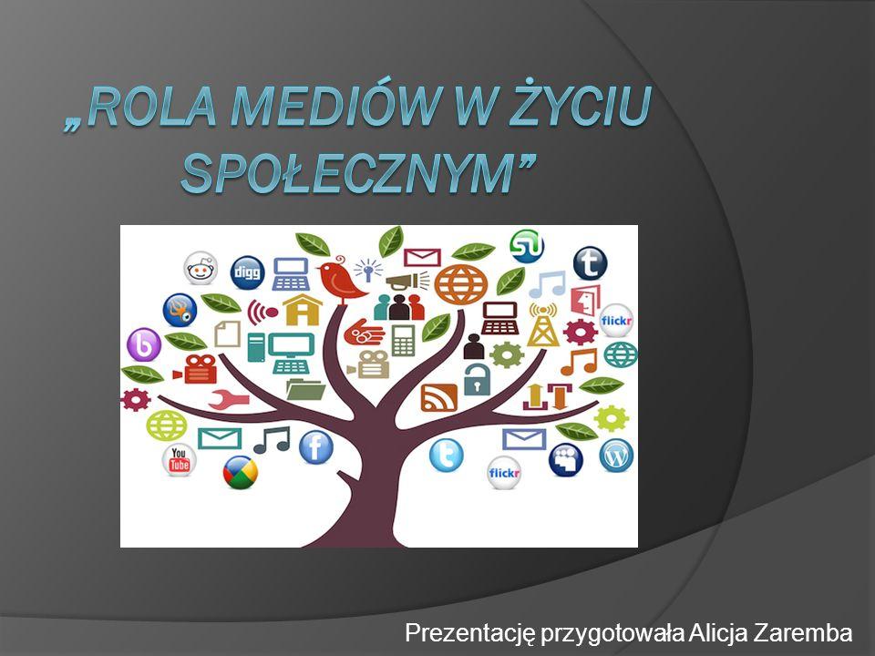 """""""ROLA MEDIÓW W ŻYCIU SPOŁECZNYM"""