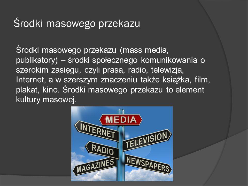 Środki masowego przekazu