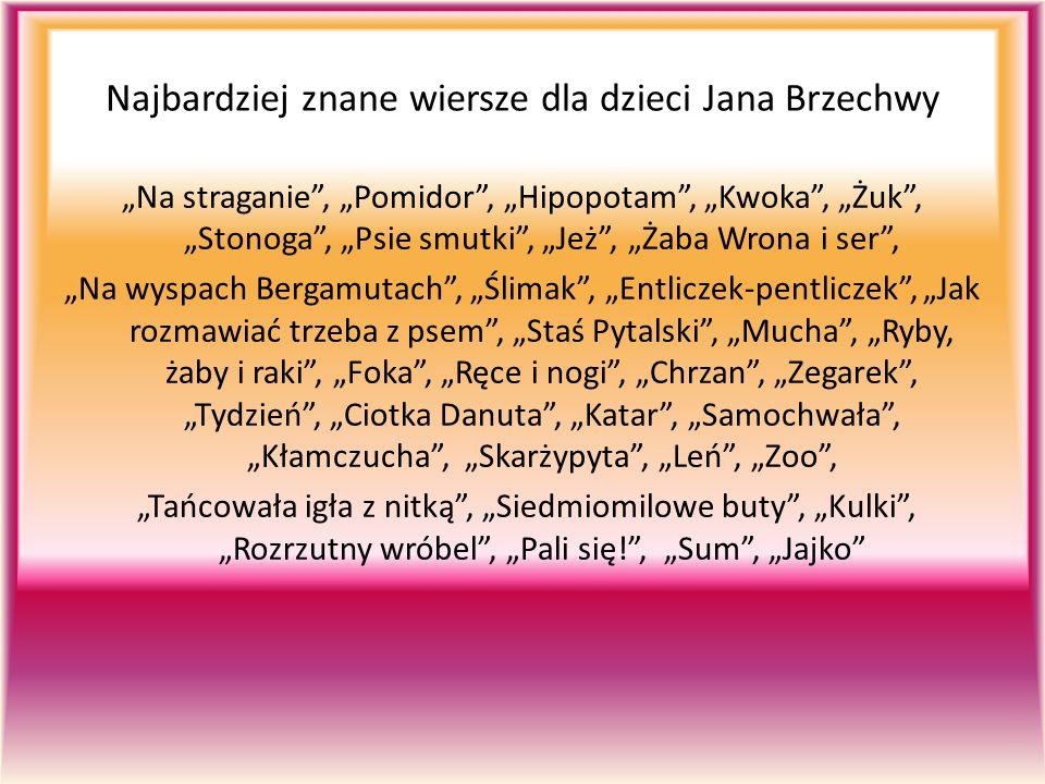 Najbardziej znane wiersze dla dzieci Jana Brzechwy