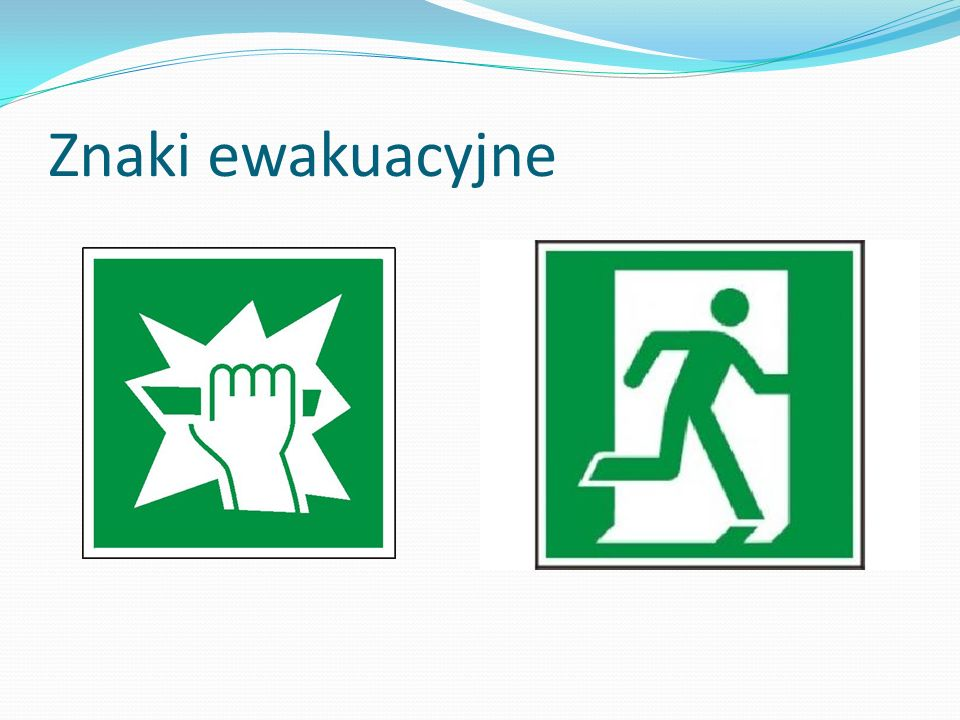 Znaki ewakuacyjne