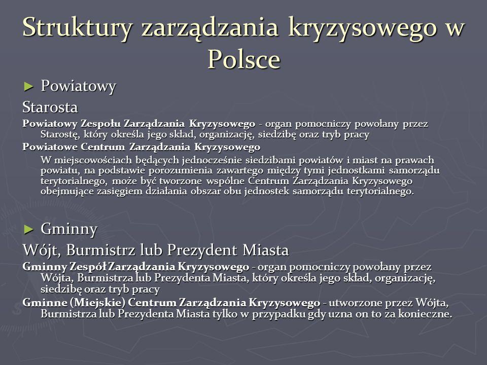 Struktury zarządzania kryzysowego w Polsce