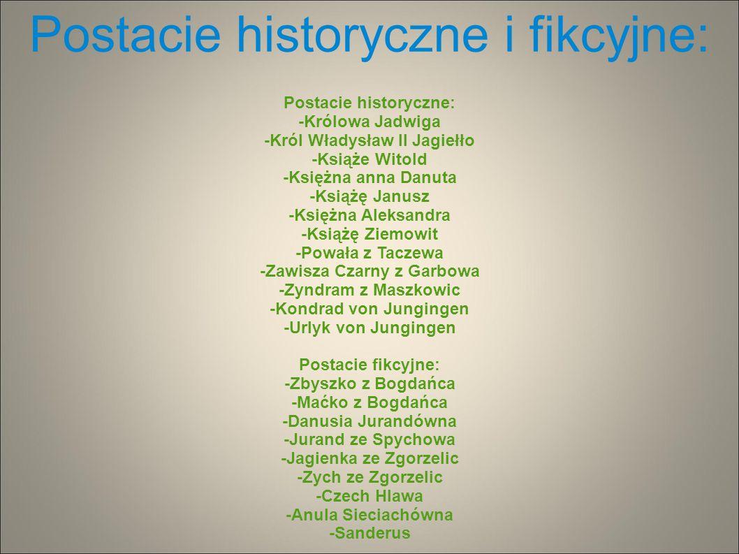 Postacie historyczne i fikcyjne: