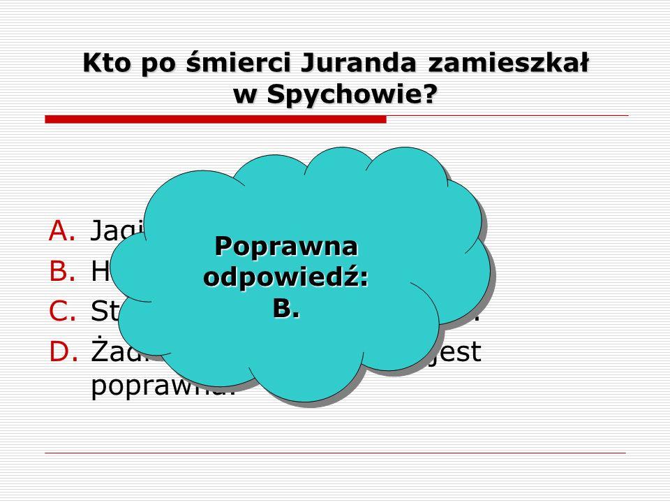 Kto po śmierci Juranda zamieszkał w Spychowie