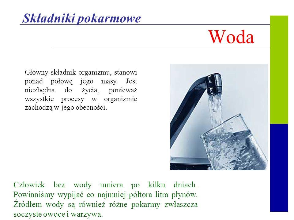 Woda Składniki pokarmowe