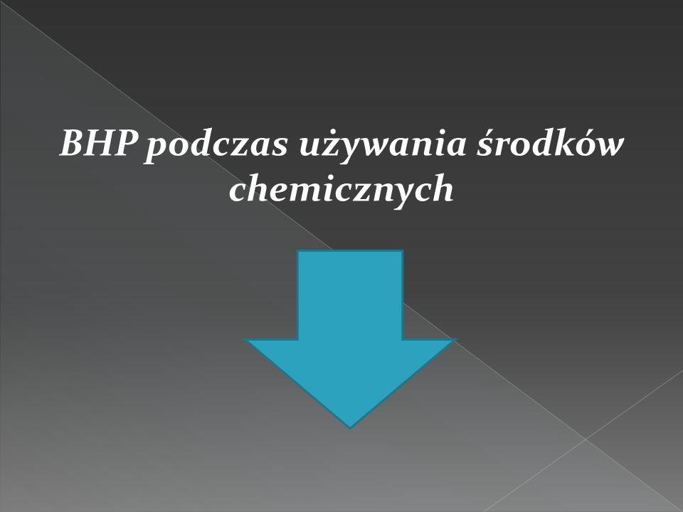 BHP podczas używania środków chemicznych