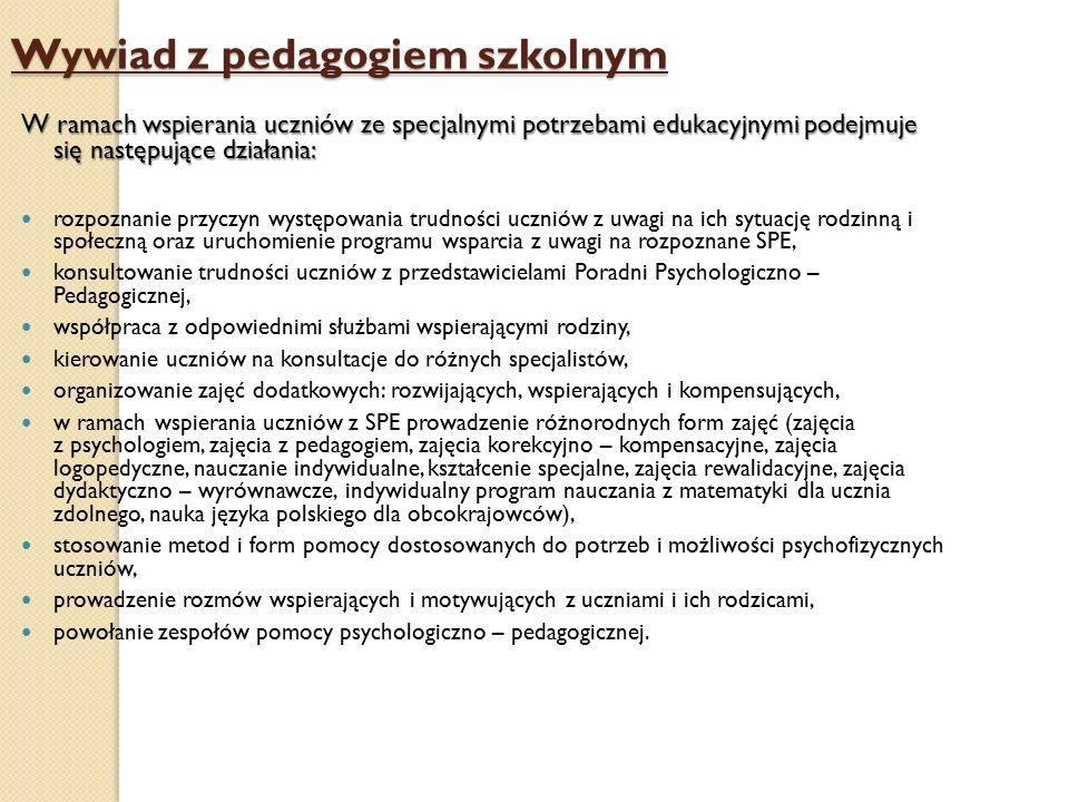 Wywiad z pedagogiem szkolnym