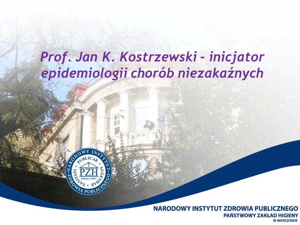 Prof. Jan K. Kostrzewski - inicjator epidemiologii chorób niezakaźnych