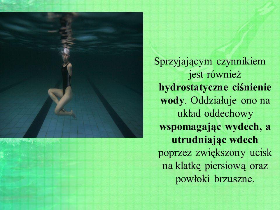 Sprzyjającym czynnikiem jest również hydrostatyczne ciśnienie wody