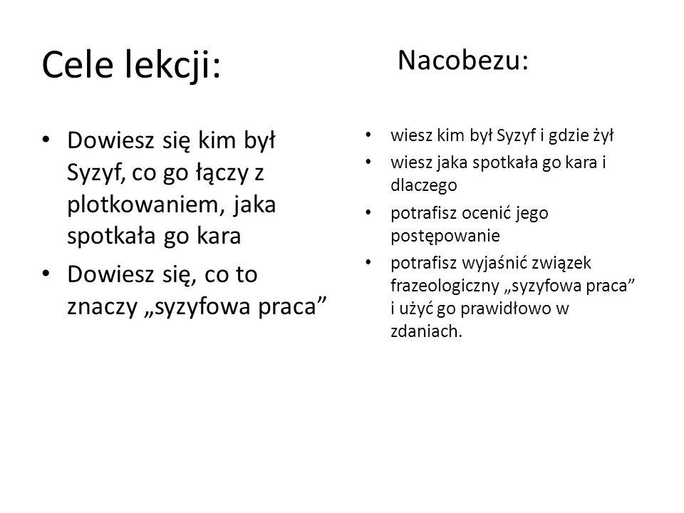 Cele lekcji: Nacobezu: