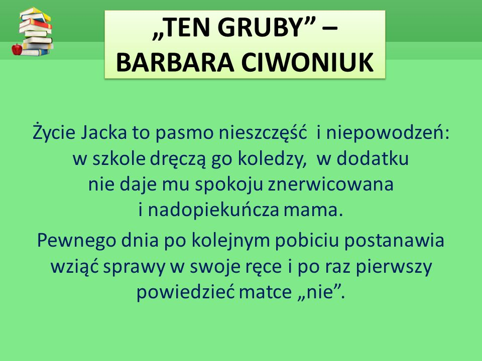 """""""TEN GRUBY – BARBARA CIWONIUK"""