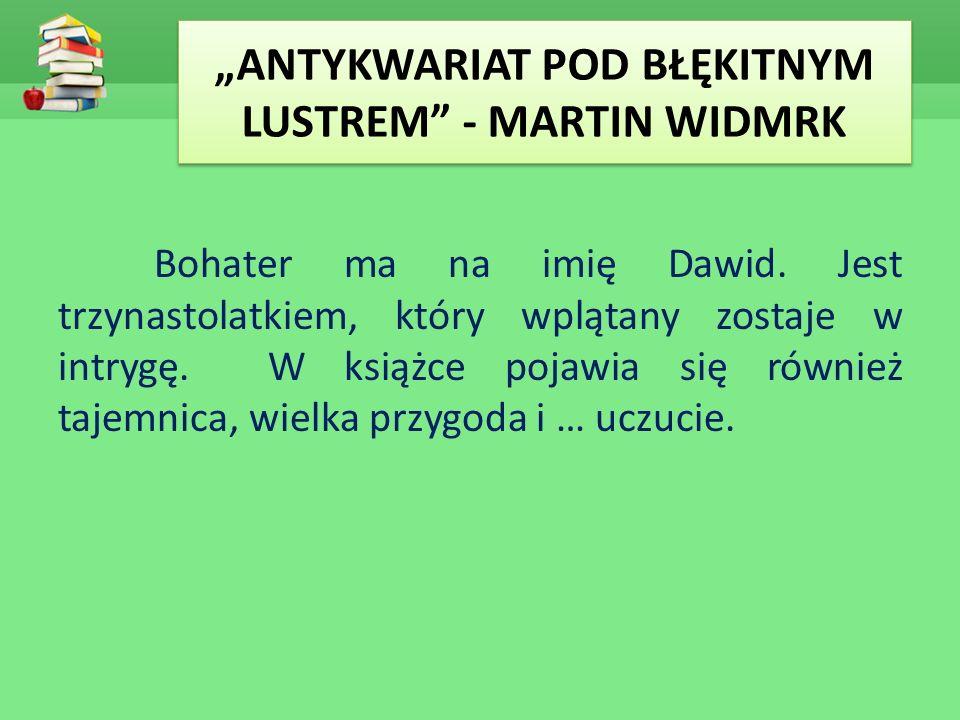 """""""ANTYKWARIAT POD BŁĘKITNYM LUSTREM - MARTIN WIDMRK"""