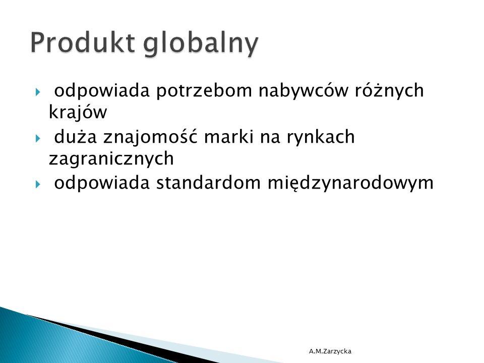 Produkt globalny odpowiada potrzebom nabywców różnych krajów