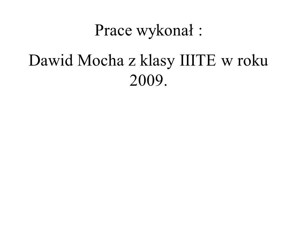 Dawid Mocha z klasy IIITE w roku 2009.