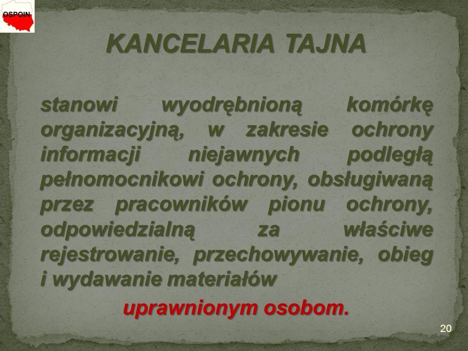 KANCELARIA TAJNA