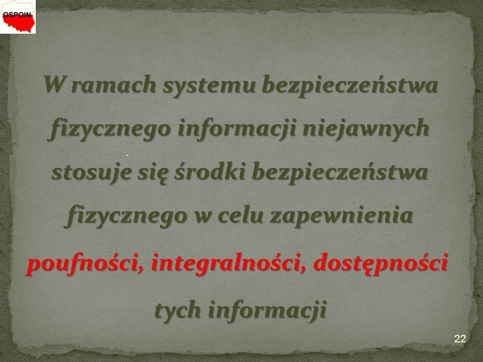 poufności, integralności, dostępności tych informacji
