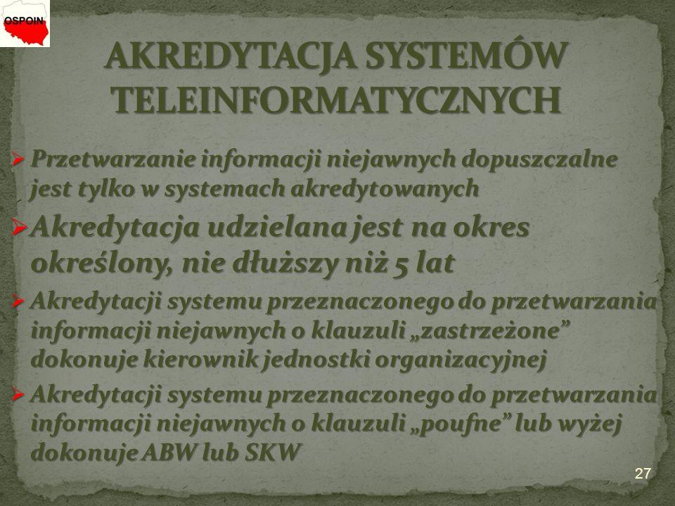 AKREDYTACJA SYSTEMÓW TELEINFORMATYCZNYCH