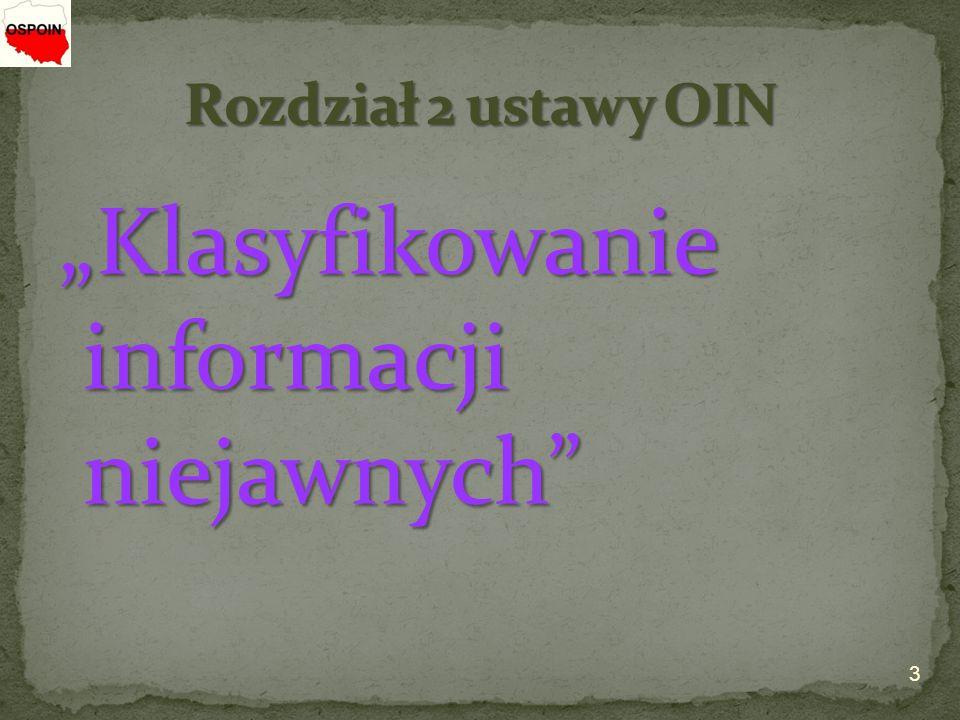 """""""Klasyfikowanie informacji niejawnych"""