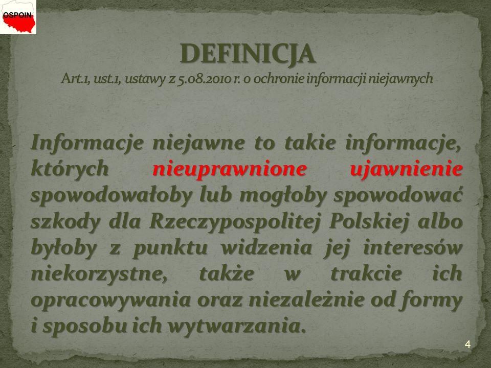 DEFINICJA Art. 1, ust. 1, ustawy z 5. 08. 2010 r