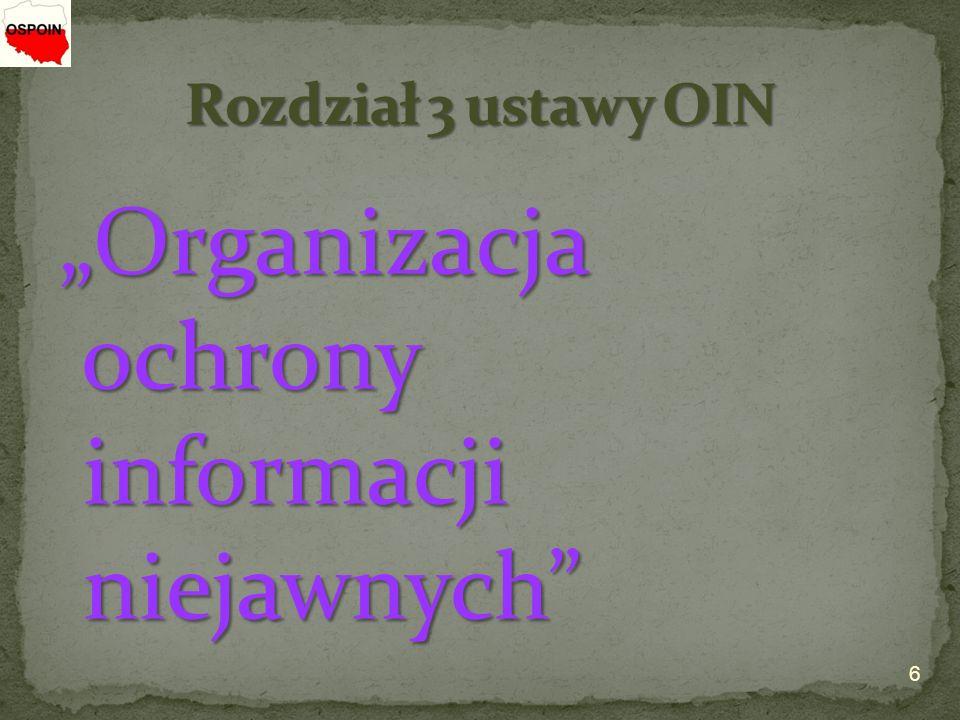 """""""Organizacja ochrony informacji niejawnych"""