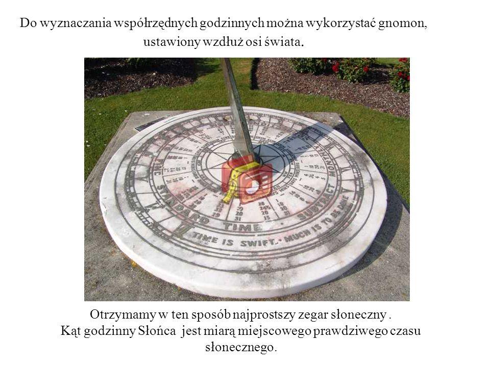 Otrzymamy w ten sposób najprostszy zegar słoneczny .