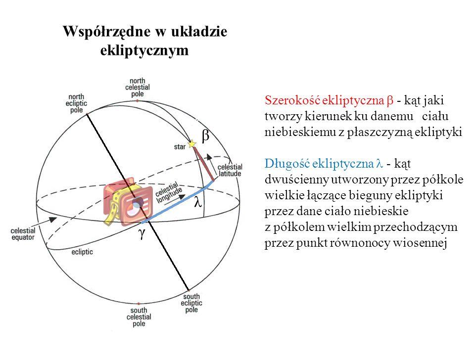 Współrzędne w układzie ekliptycznym