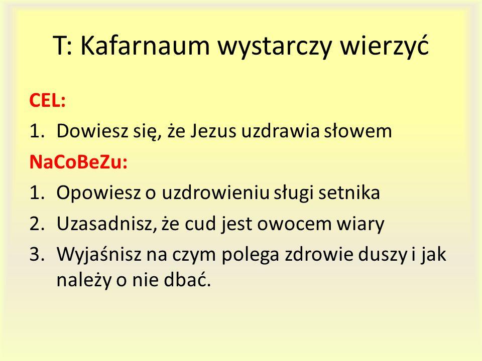 T: Kafarnaum wystarczy wierzyć