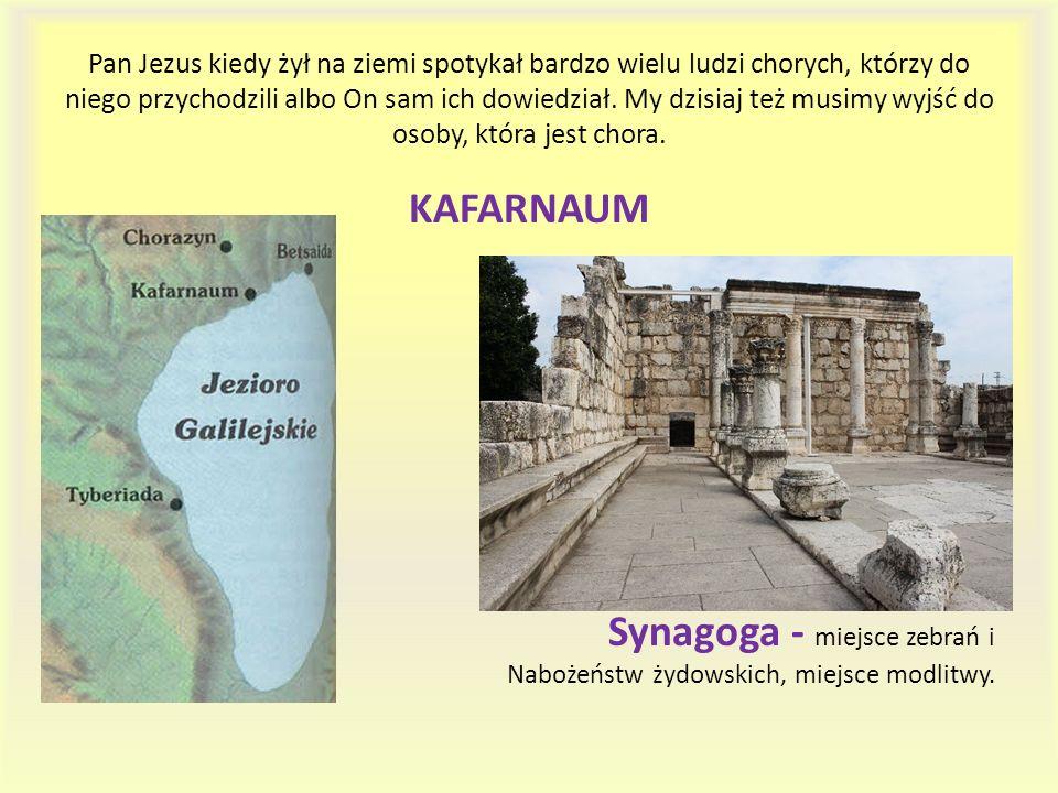Synagoga - miejsce zebrań i