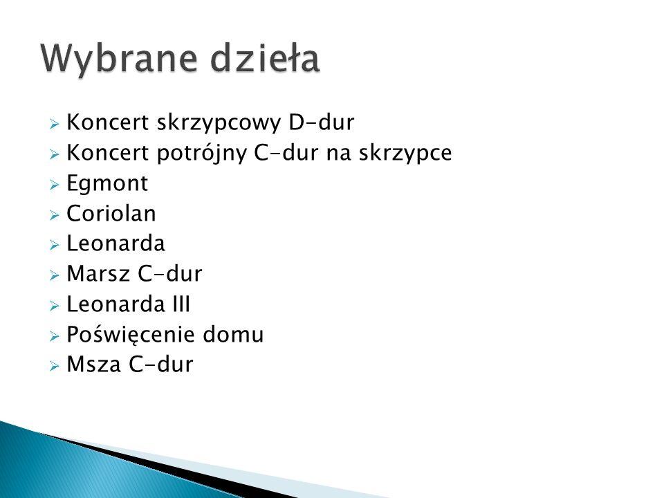 Wybrane dzieła Koncert skrzypcowy D-dur