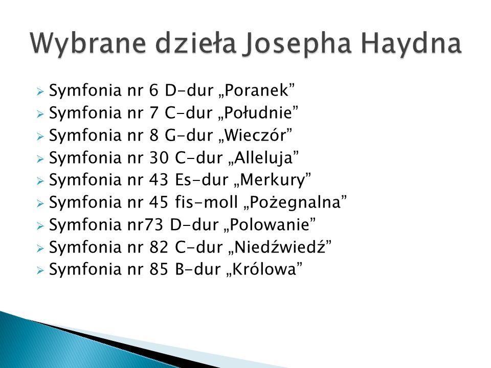 Wybrane dzieła Josepha Haydna