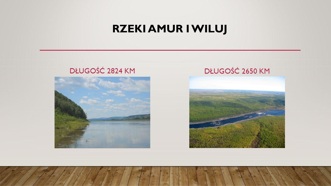 Rzeki Amur i Wiluj Długość 2824 km Długość 2650 km