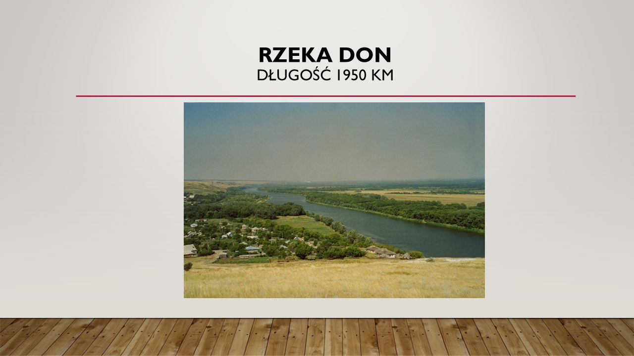 Rzeka Don długość 1950 km