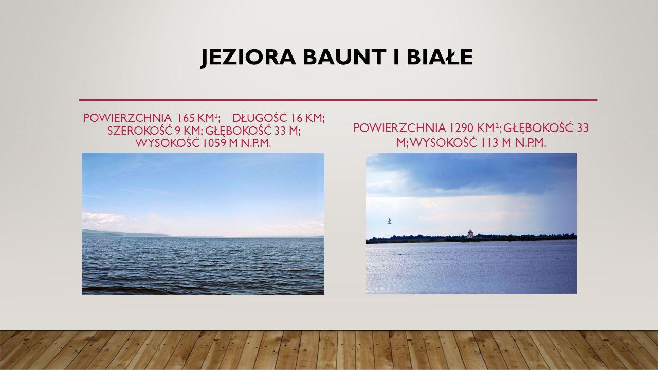 Powierzchnia 1290 km²; głębokość 33 m; wysokość 113 m n.p.m.