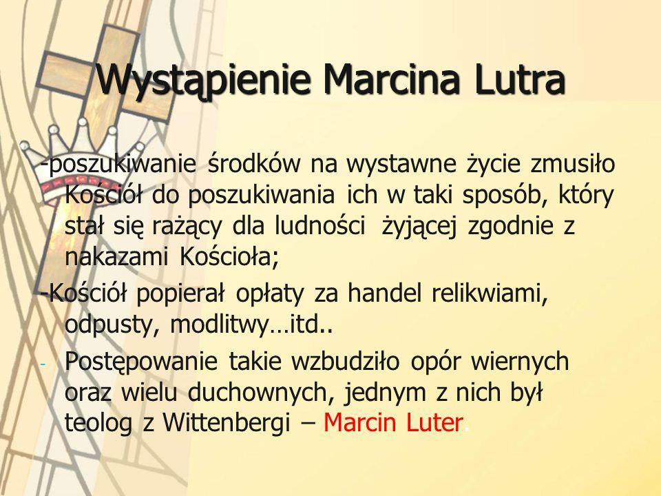 Wystąpienie Marcina Lutra
