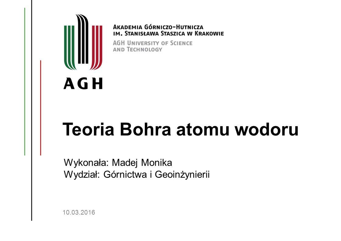 Teoria Bohra atomu wodoru