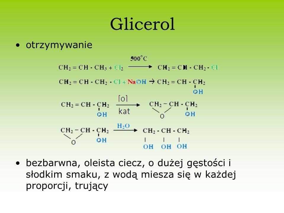 Glicerol otrzymywanie
