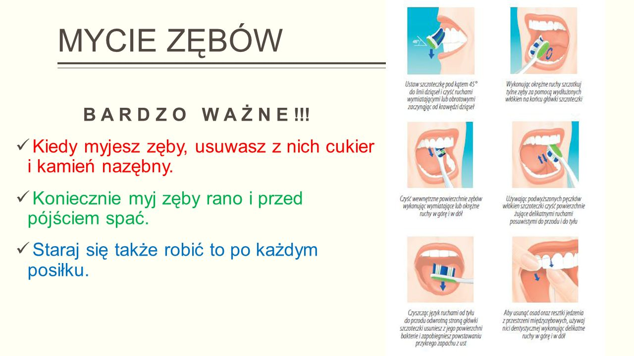MYCIE ZĘBÓW B A R D Z O W A Ż N E !!!