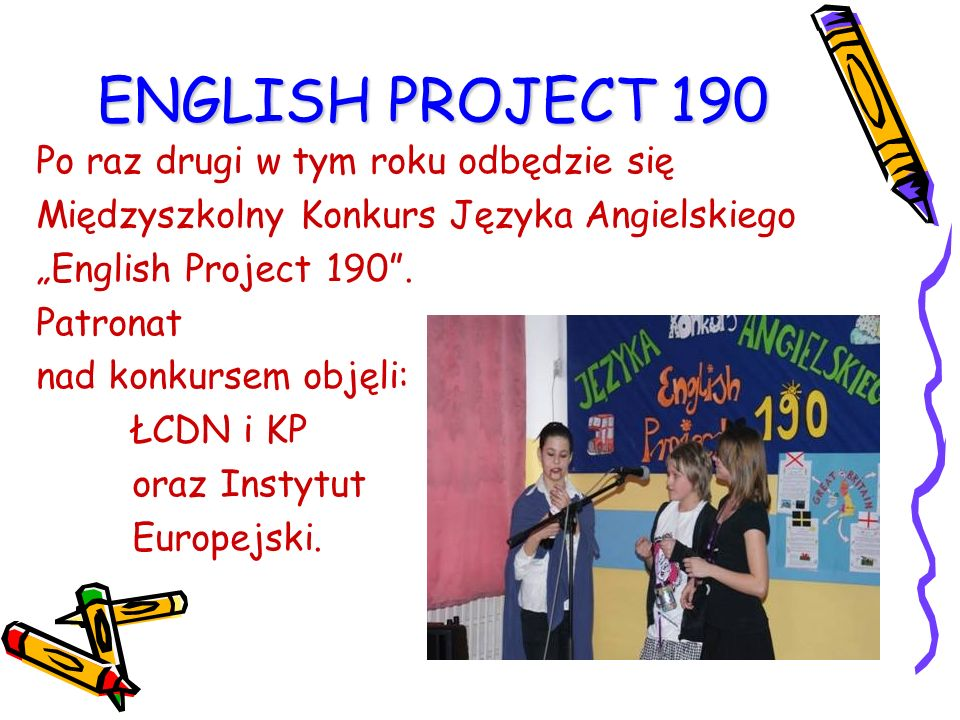 ENGLISH PROJECT 190