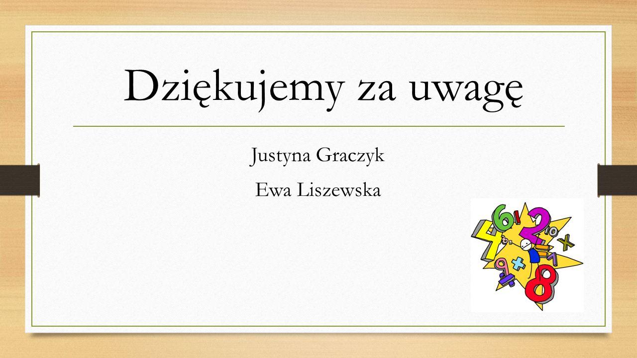 Dziękujemy za uwagę Justyna Graczyk Ewa Liszewska
