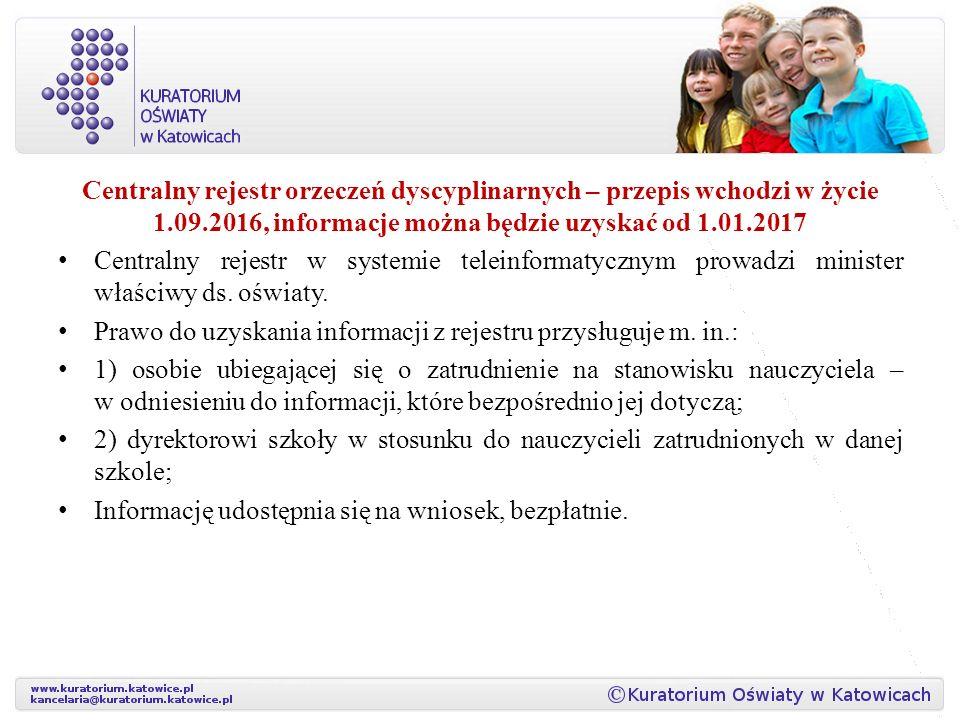 Centralny rejestr orzeczeń dyscyplinarnych – przepis wchodzi w życie 1