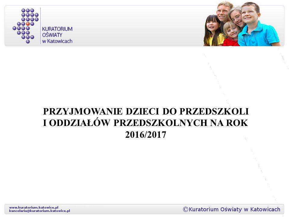 Przyjmowanie dzieci do przedszkoli i oddziałów przedszkolnych na rok 2016/2017