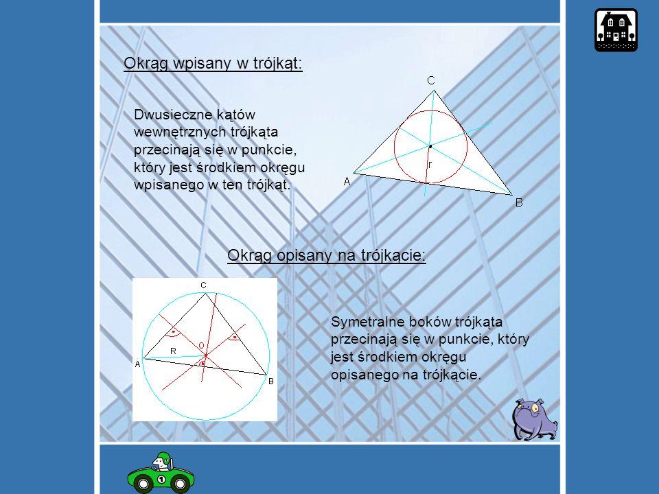 Okrąg wpisany w trójkąt: